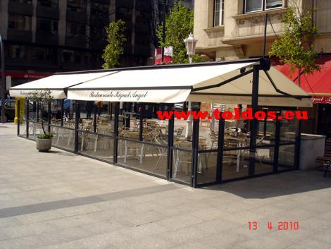 Toldos de Brazo Invisible en el Restaurante Miguel Angel de Bilbao