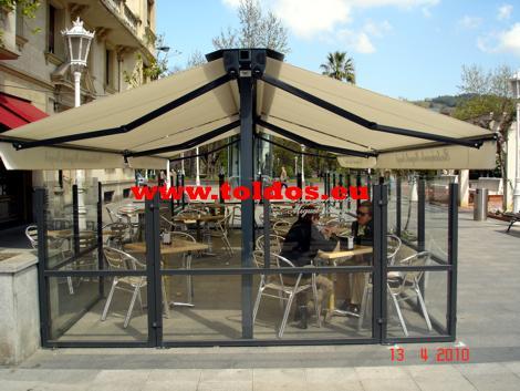 Toldos de Brazo Invisible en el Restaurante Miguel Angel de Bilbao otra foto